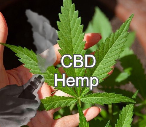 CBD vape hemp leaf