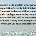 Can I travel with CBD Oil
